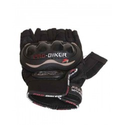 Pro-Biker leather half gloves
