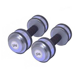 Rubber Dumbbell Set 10kg (5kg X 2)