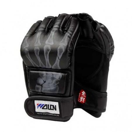 Half Finger Boxing Gloves BLACK