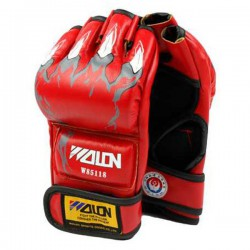 Half Finger Boxing Gloves RED