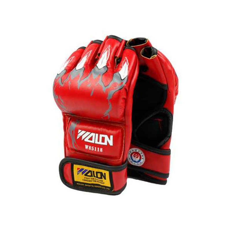 Half Finger Boxing Gloves BLACK