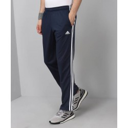 ADIDAS Striped Men's Blue Track Pants