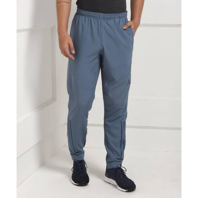 ADIDAS Solid Men's Grey Track Pants