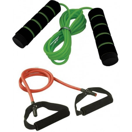 Resistance band 10lbs and Jumping rope
