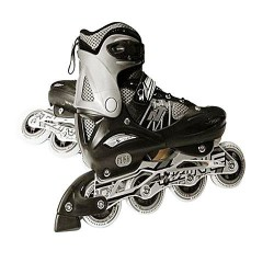 ROLLER SKATES BLACK AND SILVER TIAN E-771C