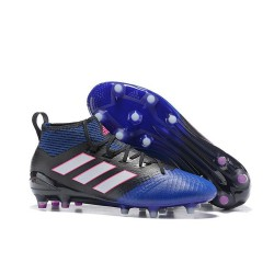 PU Rubber Football Boot BLACK/BLUE