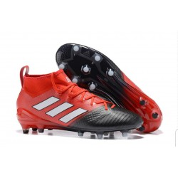 PU Rubber Football Boot BLACK/RED