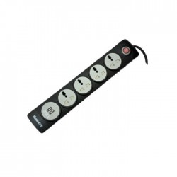 Huntkey SZN507 Four Socket With USB And Child Protection PowerStrip - Black
