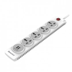 Huntkey SZN507 Four Socket With USB And Child Protection PowerStrip - White