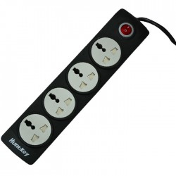 Huntkey SZN401 Four Socket One Switch Black PowerStrip