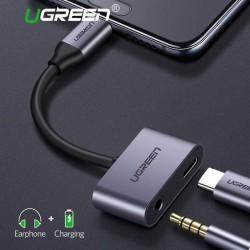 Ugreen Type-C to 3.5mm Audio + Type-C Female Adapter Aluminum Case