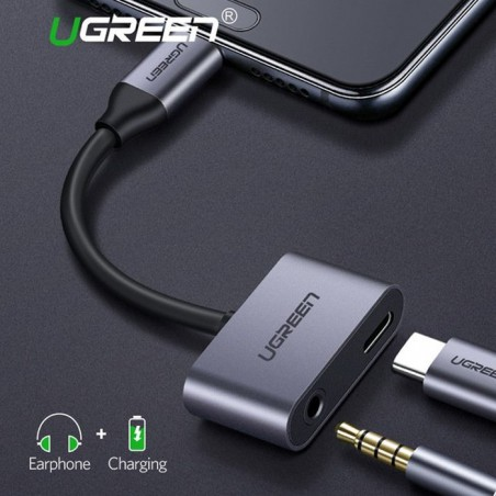 Ugreen Type-C to 3.5mm Audio + Type-C Female Adapter Aluminum Case