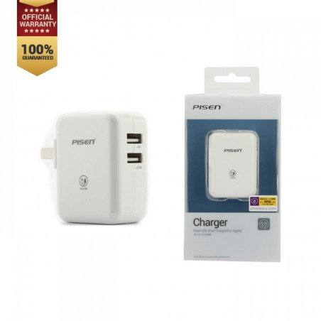 Pisen Dual USB iPad/iPhone Charger 2.4A Version