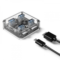 ORICO 4 Port USB3.0 Transparent HUB MH4U-U3
