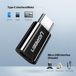 Ugreen USB 3.1 Type-C to Micro USB Black Adapter