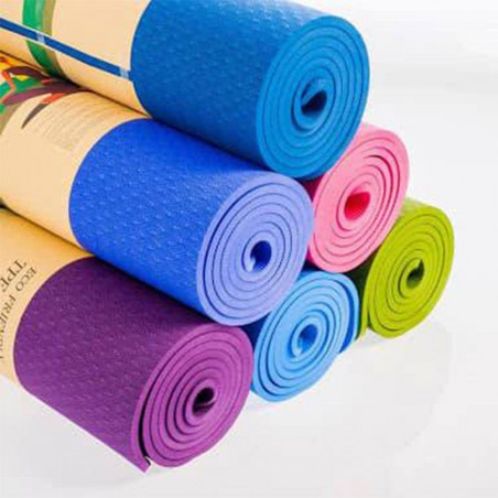 TPE YOGA MAT 8MM- ECO FRIENDLY ( 2' x 6')