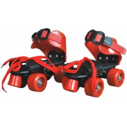 In-line Skates - Size 5-12 UK (Red, Black)