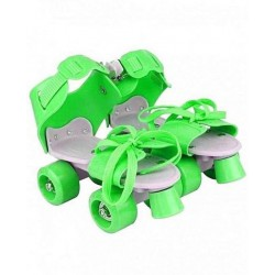 KIDS-ROLLER-SKATES(GREEN) Quad Roller Skates - Size 5-11 UK (Green)