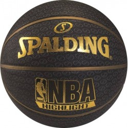 SPALDING Fast S Highlight Series Basketball - Size: 7 (Gold, Black)