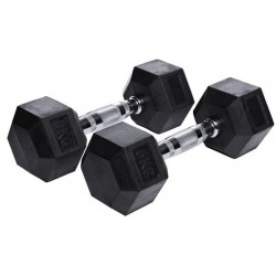 Rubber Hex Dumbbell (single)