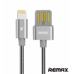 Remax Tinned Copper Lightning Cable RC-080i Charging & Data Cable Silver