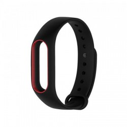 Xiaomi Mi Band 2 Strap (Black with Red Border)