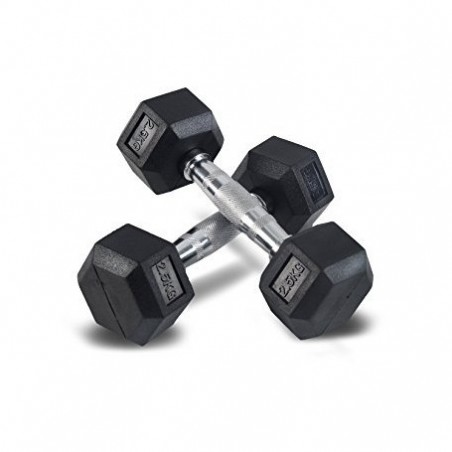 Rubber Hex Dumbbell 5 kg (2.5kg x 2)