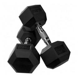 Rubber Hex Dumbbell (pair) 25 kg (12.5kg x 2)