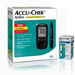 Accu-Chek Active Glucose Monitor with 10 Strips Glucometer (Black)