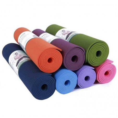 NON SLIPPERY, WASHABLE YOGA MAT 8MM- ECO FRIENDLY (2' X 6')