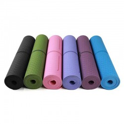 TPE YOGA MAT 6MM- ECO FRIENDLY  ( 3' x 6')