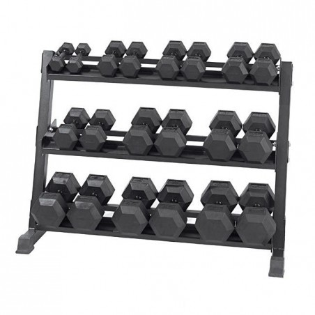 5kg-50kg Virgin Rubber Hex Dumbbell Set With Stand