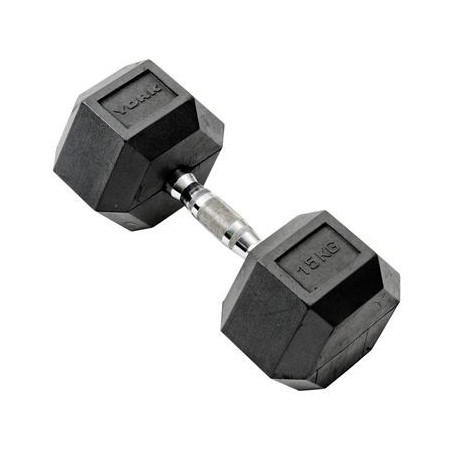 Rubber Hex Dumbbell (Single) 15kg
