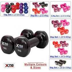 Rubber Coated Vinyl Dumbbell 1kg 2kg 3kg 4kg 5kg 10kg