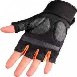 Neoprene Weight Lifting Half Finger Gloves Bodybuilding Powerlifting Wrist Support