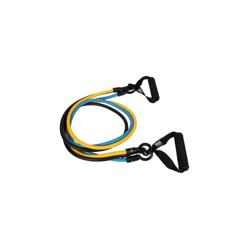 3 in 1 Resistance Band Exercise Toning Tube Resistance Tube (Multicolor)