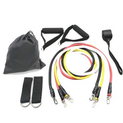 9 Pieces Resistance band Exercise Set With Ankle strap and door anchor