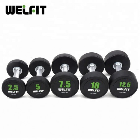 Rubber Coated Round Dumbbell