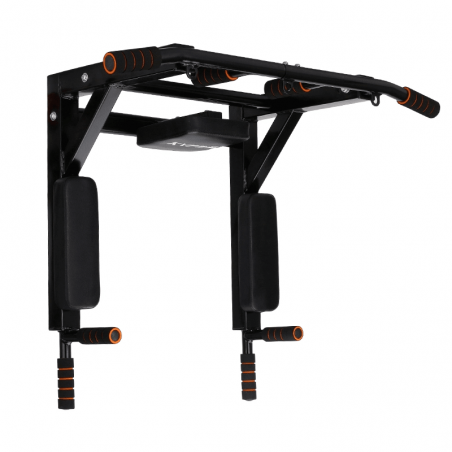 Wall mounted pull up and heavy parallel dip bar