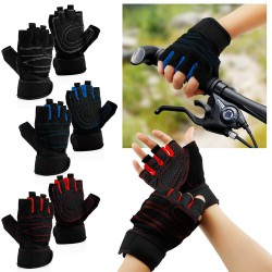 Workout Gym Half Finger Gloves Exercise Training Fitness