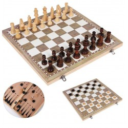 Chess /Checkers/Backgammon 3 In 1